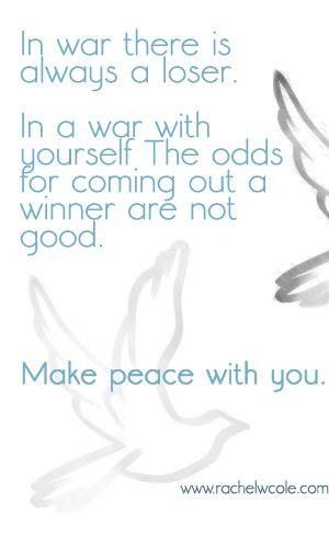 Make peace.