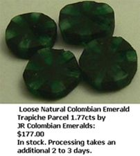 Loose Natural Colombian Trapiche Emerald Gemstone
