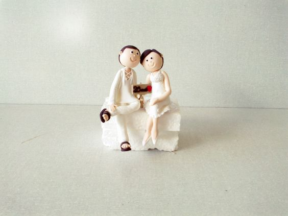 Topo de Bolo - Casamento https://www.facebook.com/gkartes7?ref=hl