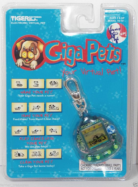 HTF Giga Pets MICROPUP Keychain Electronic Game Tiger New In Package KFC Rare  #Gigapets #90skids #flashback