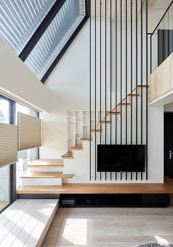 Side Stairs Design Escaliers Modernes Amenagement Escalier