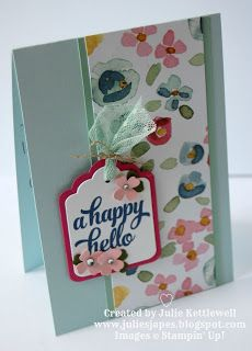 Stampin' Up! UK Order Online 24/7 - Julie Kettlewell: Team welcome gift and cards