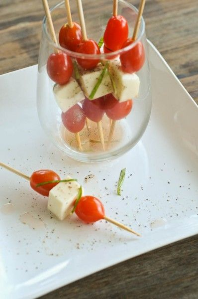 Simple Caprese Salad Skewers - Cooking | Add a Pinch | Robyn Stone