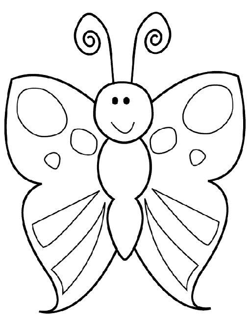 kleurplaat vlinder school tekenen
