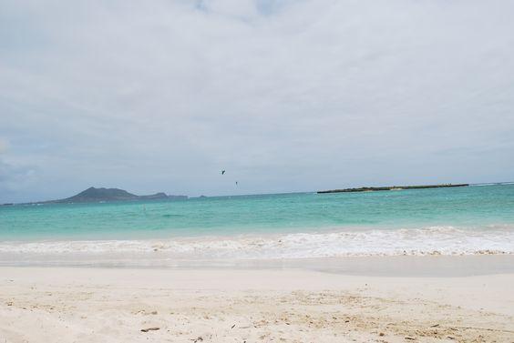 Serene Lanikai Beach on Oahu's windward coast