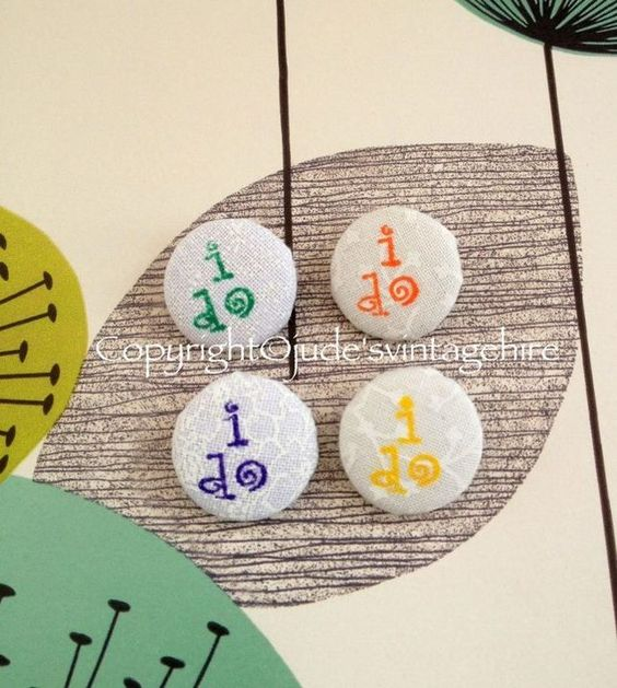 """Hand made """"i do"""" button for bridal button bouquets  £1.50"""