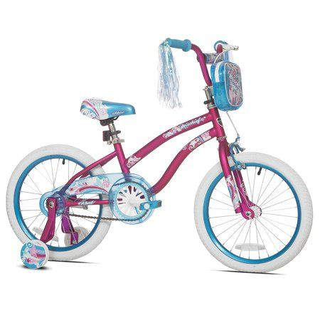 "Kent 18/"" Mischief Girls Bike Pink Front Basket Rear Training Wheels Kids NEW"