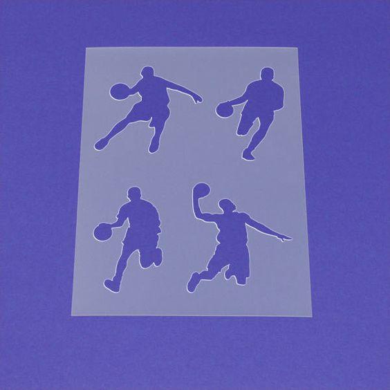 Schablone Basketball Spieler Set - MA91 von Lunatik • Gestaltungs- und Geschenkideen auf DaWanda.com
