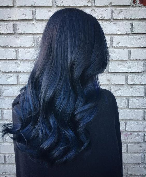 cool 30 Stylish Ideas for Blue Black Hair - Extremely Flamboyant, #Black #Blue #Cool #Extremely #Flamboyant #Hair #Ideas #Stylish