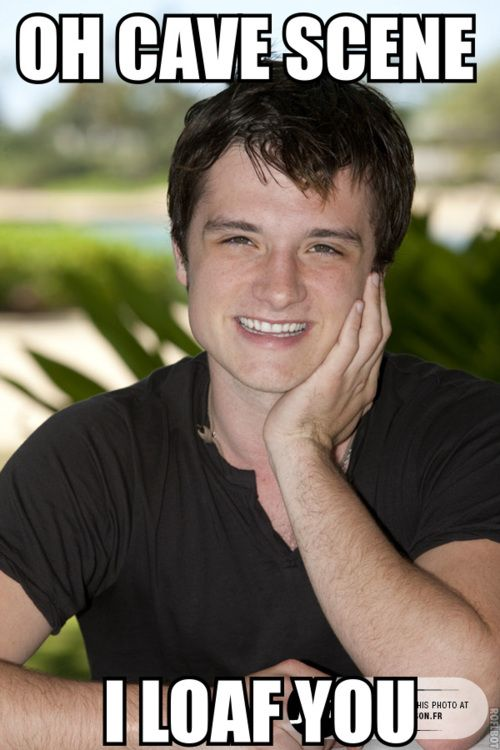 Ingredients to a Josh Hutcherson Interview: 1. I am from Kentucky  2. I am just like Peeta  3. Cave scene  4. Jennifer Lawrence is great  5. I love the outdoors  6. Cave scene  7. I am from Kentucky