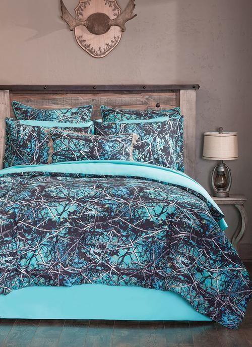 A Serenity Camo Bedding Set American Outdoor Woman Bedroom