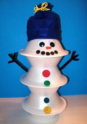 Buttons the Snowman Craft