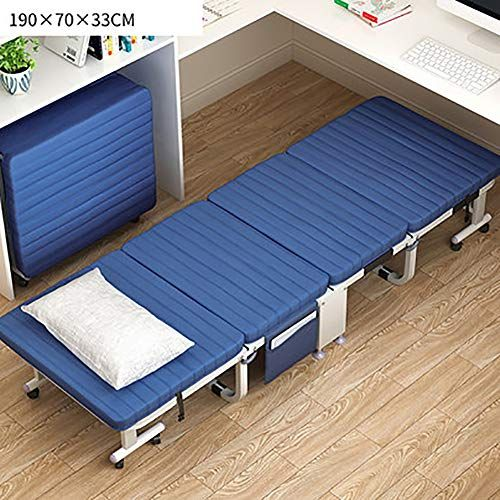 Spare Foldable Guest Bed Metal Bed Frame Heavy Duty Bedframe