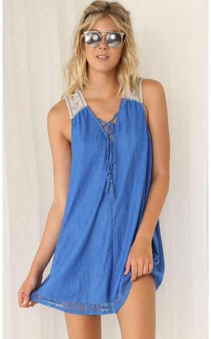 Tops > Electric Blue Lace Dress