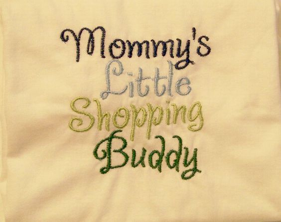 Boys Tee Shirt, Mommy's Shopping Buddy  Embroidered Tee,  #142 - pinned by pin4etsy.com