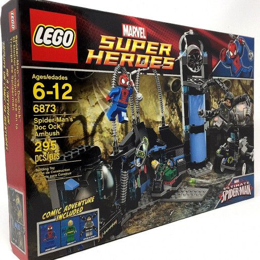 Lego Batman Super Heroes Marvel Spider-Man Set # 6873 NEW 2012 w 3 MINIFIGS