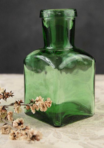 Green Glass Spice Bottles