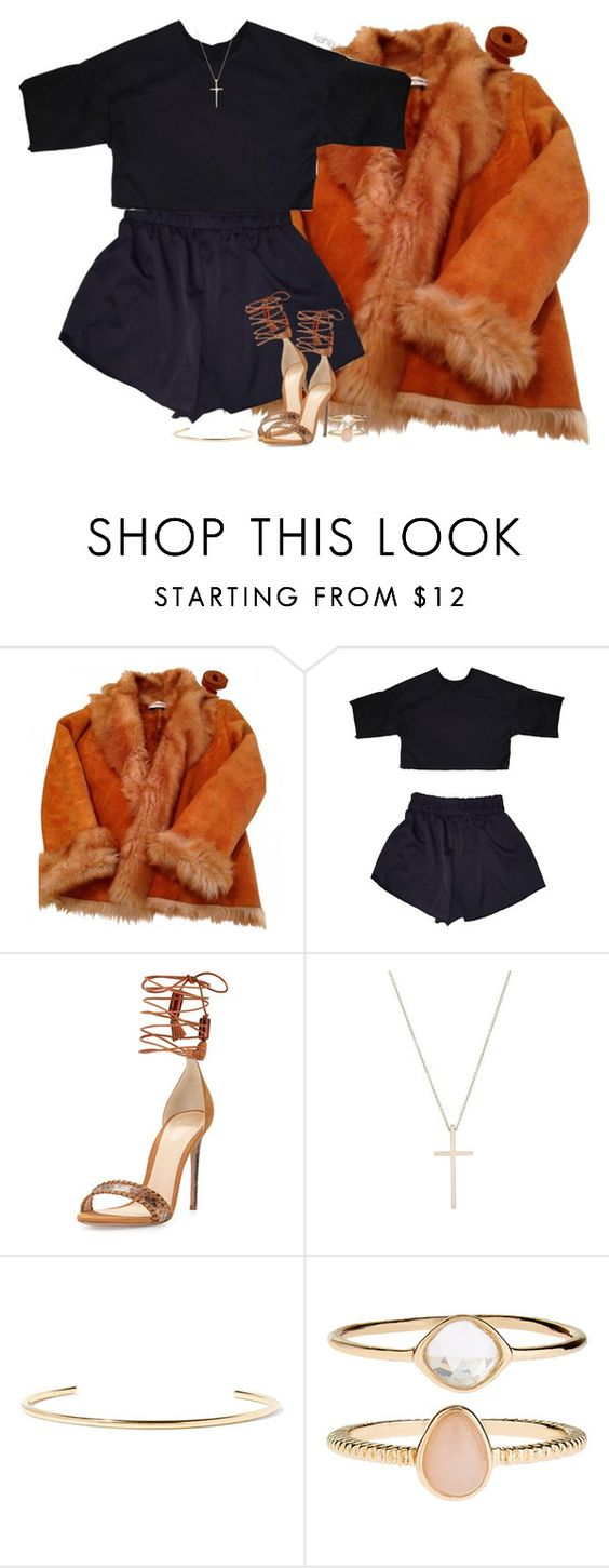 """""""Instigators   08 30 16"""" by kahla-robyn ❤ liked on Polyvore featuring Yves Salomon, Alexandre Birman, Tiffany & Co., Jennifer Fisher and Accessorize"""
