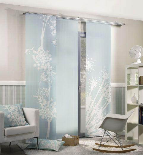 Fenchel Turkis Schiebevorhange 2 Teiliges Set Vorhange Wohnen Flachenvorhang