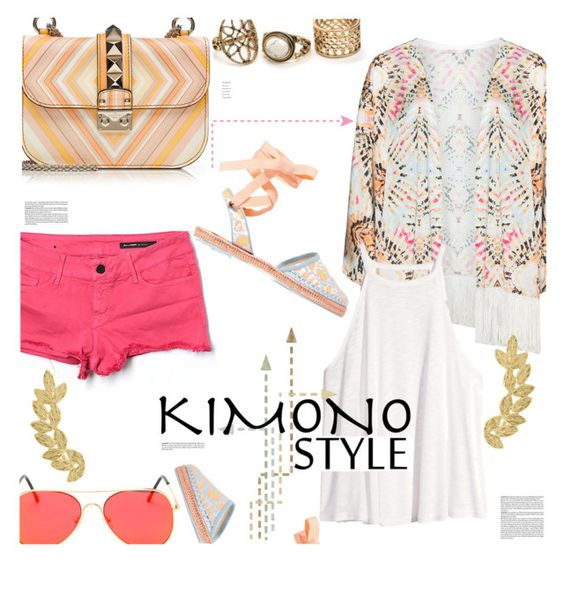 """Kimono Cool"" by stacey-lynne ❤ liked on Polyvore featuring Mat, Black Orchid, Valentino, H&M, Sophia Webster and Eddera"