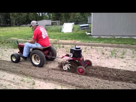 Johnnypop58 Tilling With Wheelhorse Youtube Tractor Idea Lawn Tractor Garden Scooters