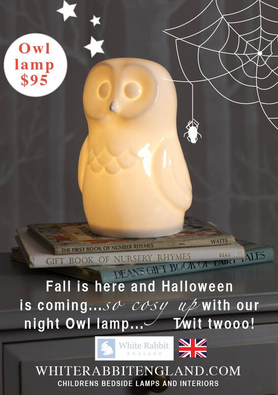 $95 White Rabbit England. Halloween Owl http://whiterabbitengland.blogspot.com/#