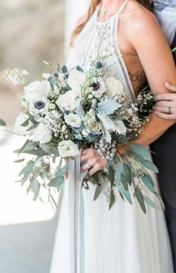 39 prettiest wedding bouquets 2020, greenery wedding bouquet, wedding bouquets, bridal bouquets, spring wedding bouquets, summer wedding bouquets #bouquets #greenerywedding #weddingbouquets