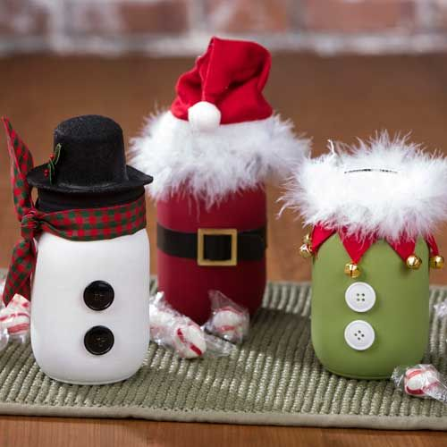 Mason Jar Decorating Ideas For Christmas Delectable Fun And Quirky Mason Jar Holiday Craftsmade Easy With Paint Design Decoration