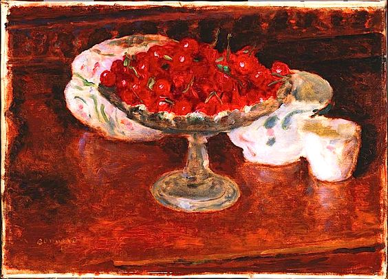 Bowl of Cherries by Pierre Bonnard