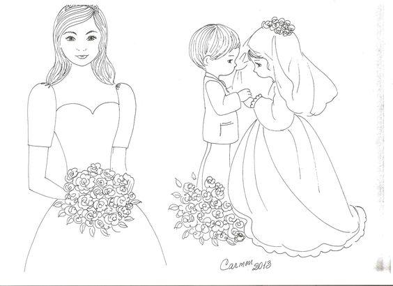 Patrones sencillos de una novia y  de preciosos momentos   matrimonio