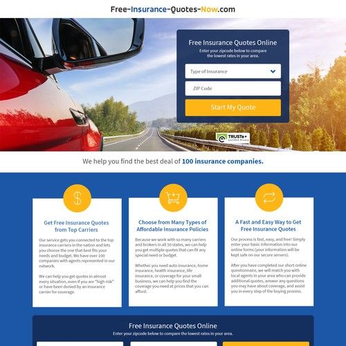 Redesign Insurance Quote Comparison Site All Web Leads Connects