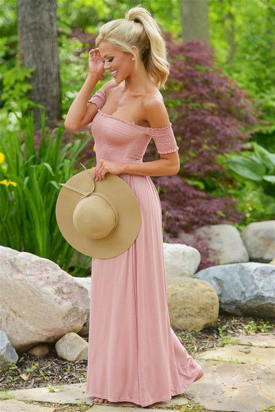 Even Scarlett Would Approve Maxi Dress - Dusty Rose from Closet Candy Boutique #fashion #summer #ootd: