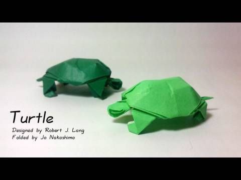 how to make an origami turtle designed by robert j lang