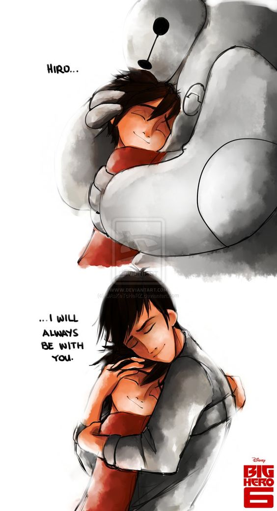 """Baymax and Tadashi will always be with Hiro Hamada. """"I will always be with you."""""""