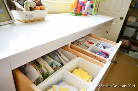 Drawer organization in the nursery - #organization #nursery #baby
