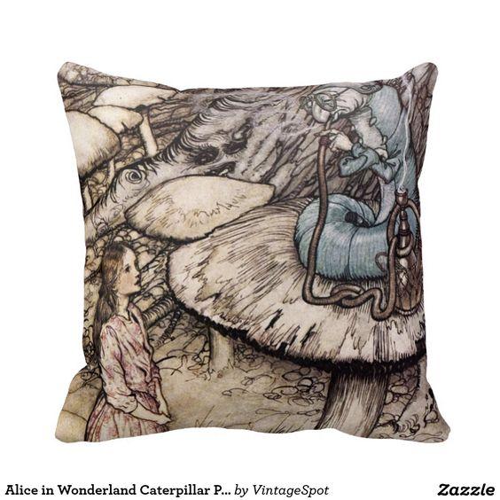 Alice im Wunderland-Raupen-Kissen