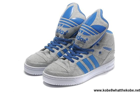 Cheap Discount Adidas X Jeremy Scott Big Tongue Shoes Grey Blue
