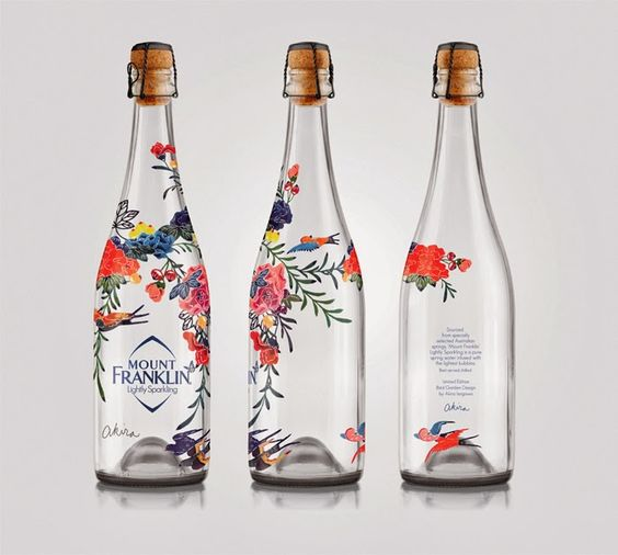Akira Isogawa embellished water bottles.