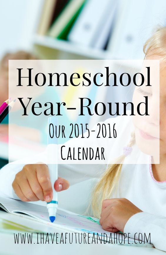 Homeschool Year-Round Our 2015-2016 Calendar or schedule. Have you wondered what a year-round homeschool calendar / schedule looks like? I share our new calendar for the year with you as an example of how you can homeschool when you want to work around your schedule.