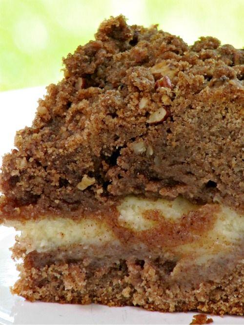 Cinnamon Cream Cheese Streusel Coffee Cake