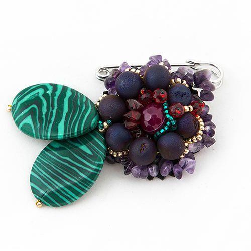brooch, natural stones