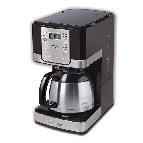 Brew 8 Cup Programmable Coffee Maker With Thermal Carafe Stainless Steel Coffee Maker Mr Coffee Coffee Thermal