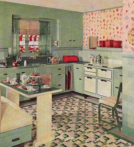 """article on : """"How to create a retro-style kitchen""""  @Andrea Shutt"""