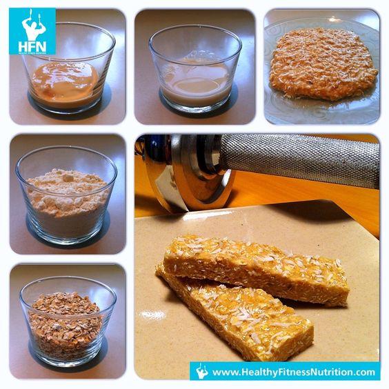 Fitness Riegel: HFN Erdnussbutter Protein Riegel Rezept (Eiweißriegel)