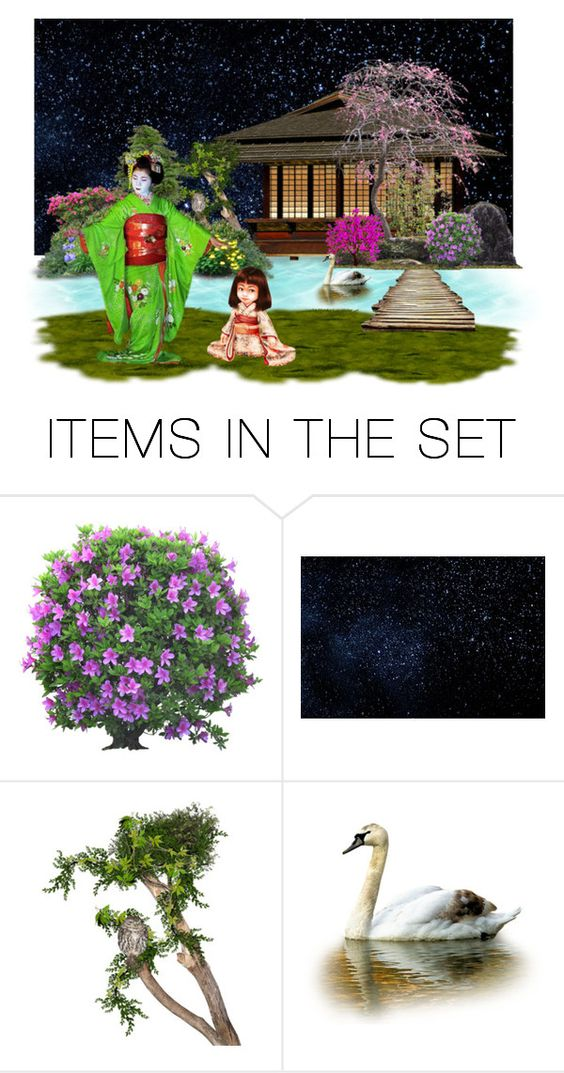 """""""Learning To Be Geisha"""" by sjlew ❤ liked on Polyvore featuring art"""