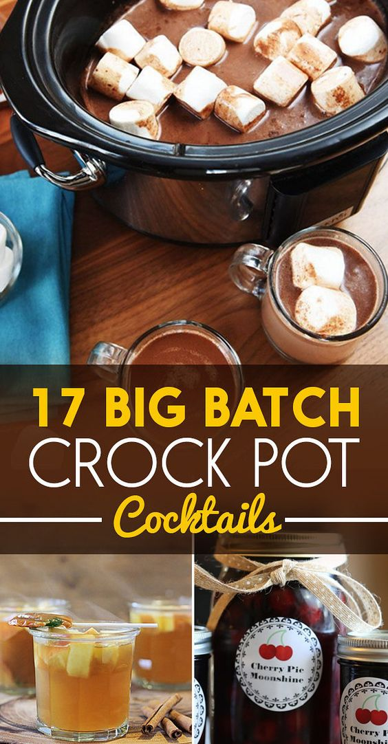 17 Boozy Crock Pot Cocktails | Cocktails, Crock Pot and Pots