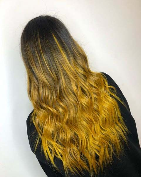 44 Superb Yellow Highlighted Hair Color Trend In 2109 Cleverstyling Yellow Hair Color Hair Color For Black Hair Hair Styles