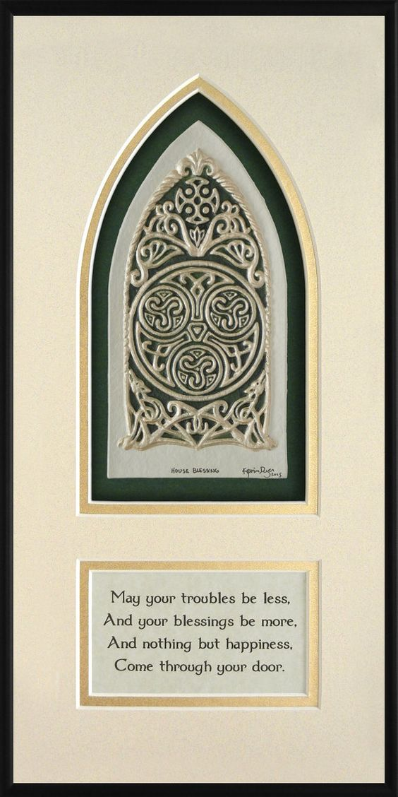Celtic House Blessing Cast Paper Irish Home Blessing