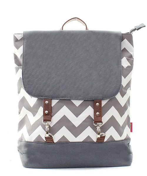 Personalized Gray and white Chevron Back by sewsassybootique, $28.95