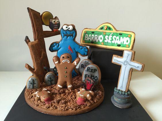 Barrio sésamo y el zombie de las galletas